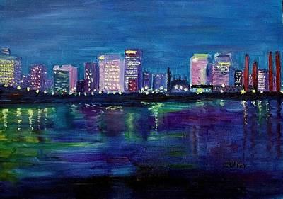 Painting - Richmond Skyline by Julie Brugh Riffey