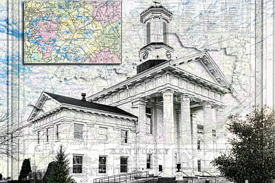 Photograph - Richmond Ky Map by Sharon Popek