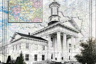 Photograph - Richmond Ky Map by Sharon Popek