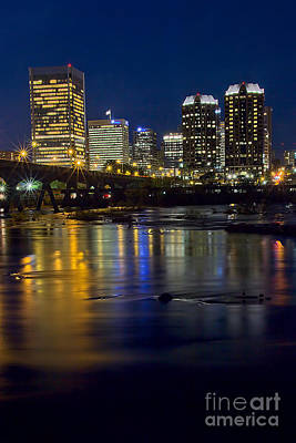 Photograph - Richmond Night Skyline I by Jemmy Archer