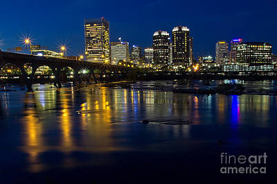 Photograph - Richmond Night Skyline by Jemmy Archer