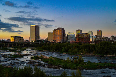 Richmond Skyline At Dusk Art Print