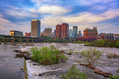 Photograph - Richmond Skyline by Rick Berk