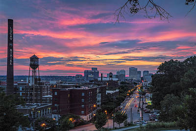 Photograph - Richmond Sunset Libby Hill by Jemmy Archer