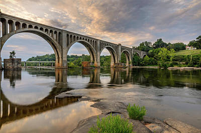 Photograph - Richmond Train Bridge by Michael Donahue