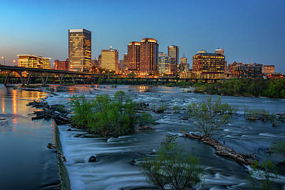 Photograph - Richmond Twilight by Rick Berk