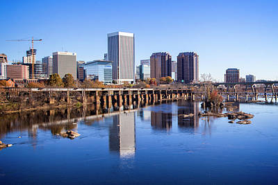 Photograph - Richmond Va Riverview by Alan Raasch