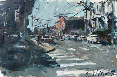 Painting - Richmond Virginia Cityscape Painting by Robert Joyner