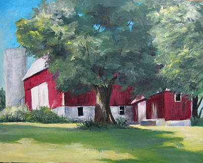 Painting - Rich's Barn by Carol Hart