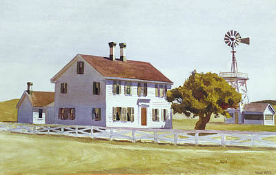 Spring Landscape Photograph - Rich's House by Edward Hopper