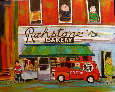 Litvack Painting - Richstone's Bakery by Michael Litvack