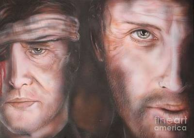 Rick Grimes Painting - Rick And The Govenor by John Sodja