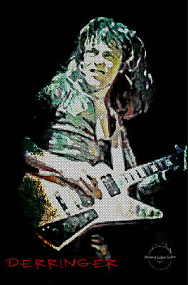 Digital Art - Rick Derringer by Absinthe Art By Michelle LeAnn Scott