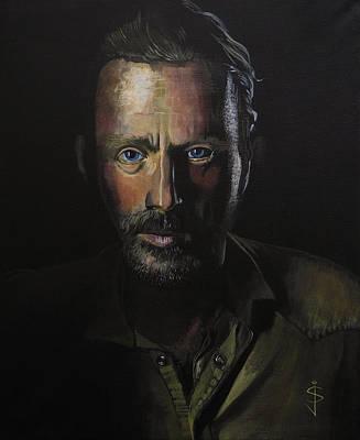 Rick Grimes Print by Jan Szymczuk