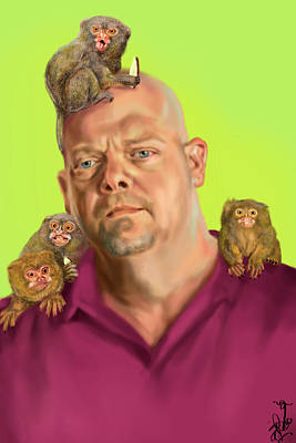 History Channel Digital Art - Rick Harrison by Brittany Zagoria