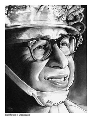 Blue Drawing - Rick Moranis by Greg Joens