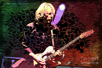 Digital Art - Rick Parfitt - Guitarist by Ian Gledhill