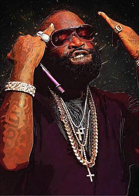 Rick Ross Digital Art - Rick Ross by Semih Yurdabak