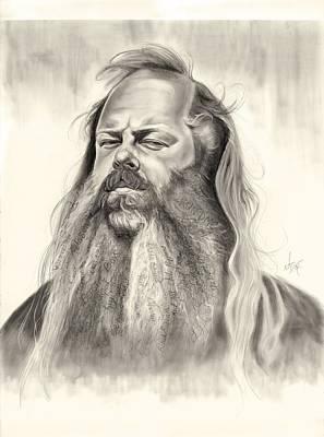 Jay Z Drawing - Rick Rubin by Jenn Kovachik
