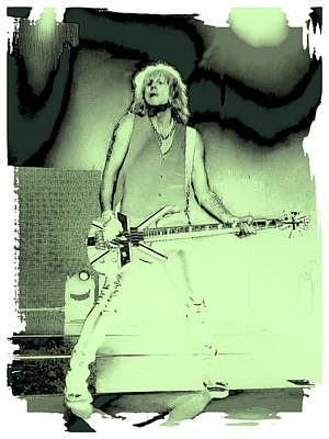Rick Savage - Def Leppard Print by David Patterson