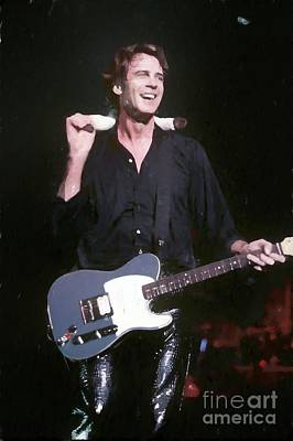 Painting - Rick Springfield Painting by Concert Photos