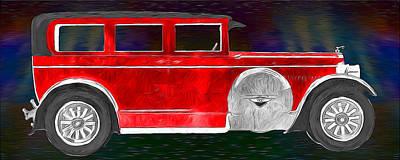 Rickenbacker 1920s Automobile Art Print by John Haldane