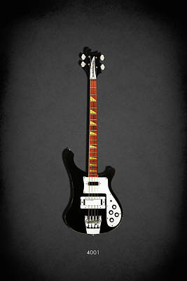 Music Photograph - Rickenbacker 4001 1979 by Mark Rogan