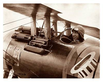 Photograph - Rickenbacker And His Spad Xiii 1918 by US Signal Corp