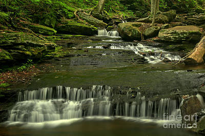 Photograph - Ricketts Glen Gentle Cascades by Adam Jewell