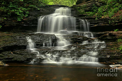 Photograph - Ricketts Glen Onondaga Falls by Adam Jewell
