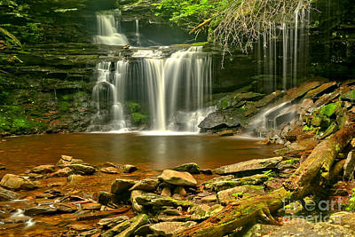 Photograph - Ricketts Glen R B Ricketts Falls by Adam Jewell