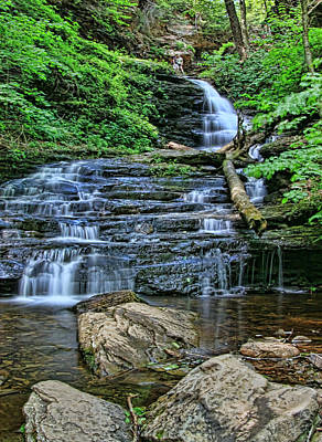 Photograph - Ricketts Glen S P - Ozone  Falls # 2 by Allen Beatty
