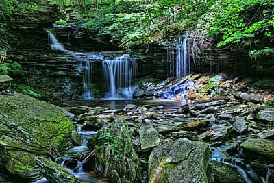 Photograph - Ricketts Glen S P - B. Reynolds Falls # 2 by Allen Beatty