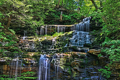Photograph - Ricketts Glen S P - Ganoga Falls by Allen Beatty