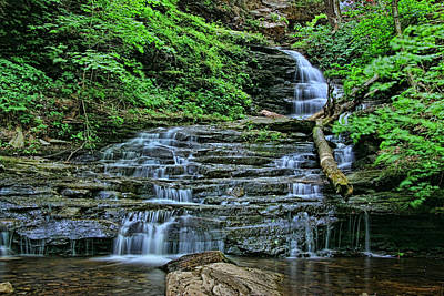 Photograph - Ricketts Glen S P - Huron  Falls by Allen Beatty