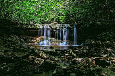 Photograph - Ricketts Glen S P - Oneida Falls by Allen Beatty