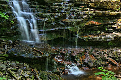 Photograph - Ricketts Glen S P - Shawnee Falls # 2 by Allen Beatty