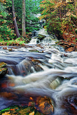 Relax Photograph - Ricketts Glen Waterfall by Marcia Colelli