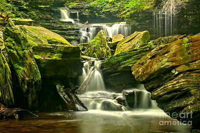 Photograph - Ricketts Glen Waterfalling Everywhere by Adam Jewell