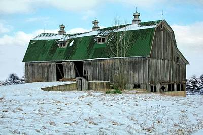 Rickety Old Barn Print by Pat Cook
