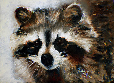 Painting - Rickey Raccoon by Barbie Batson