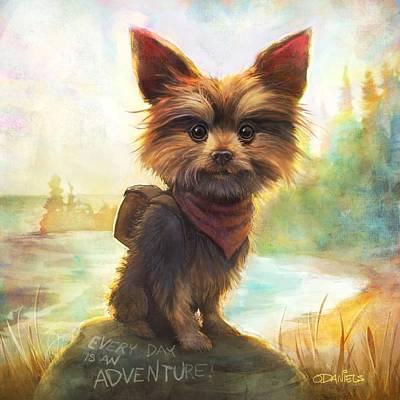 Dog Art Painting - Rickey's Adventure by Sean ODaniels