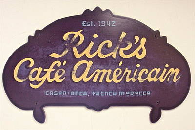 Casablanca Film Painting - Rick's Cafe Americain by Tom Colla