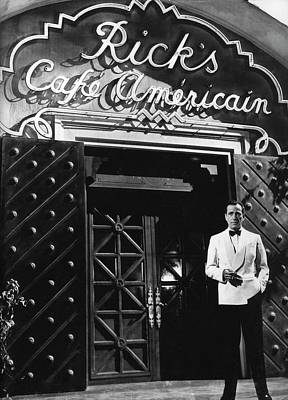 Door Locks And Handles Rights Managed Images - Ricks Cafe Americain Casablanca 1942 Royalty-Free Image by David Lee Guss