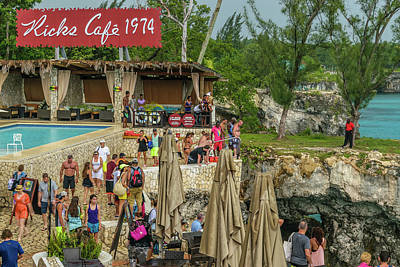Photograph - Rick's Cafe In Negril, Jamaica by Debbie Ann Powell