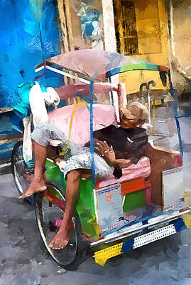 Rickshaw Art Print by Gareth Davies