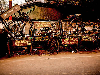Photograph - Rickshaws by M G Whittingham