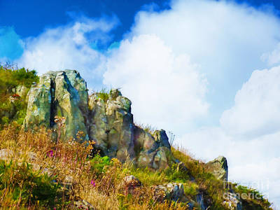 Photograph - Rocky Cliff At Howth by Judi Bagwell