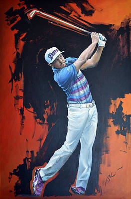 Painting - Ricky Fowler by Mark Robinson