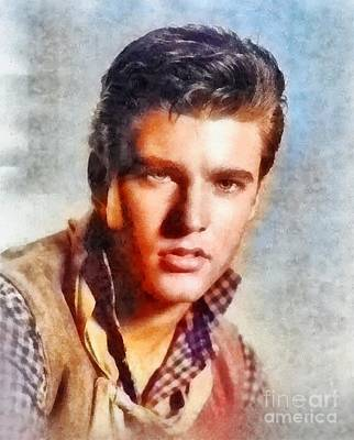Rock And Roll Paintings - Ricky Nelson, Music Legend by Frank Falcon